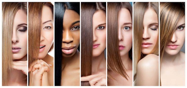 donne con diverso colore carnagione