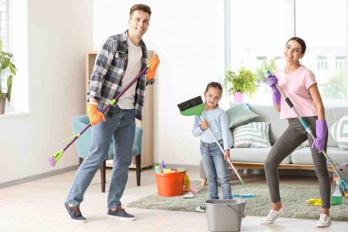 Lavori domestici in famiglia