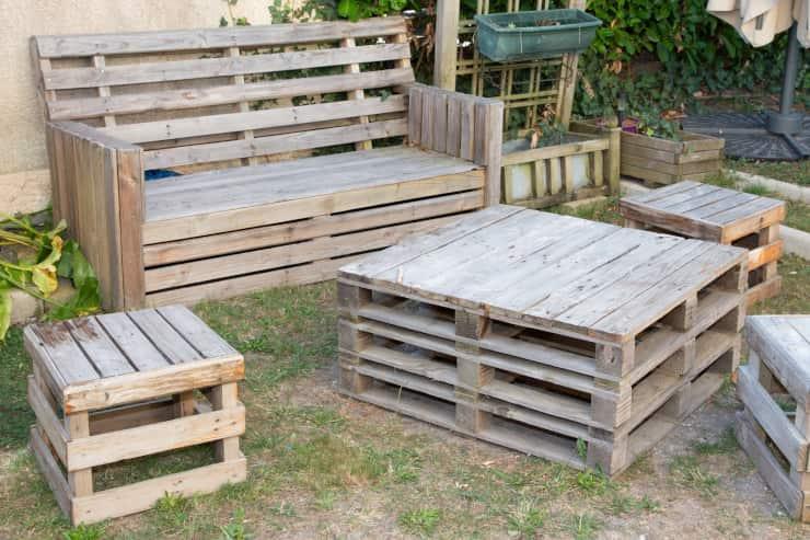 mobili giardino pallet