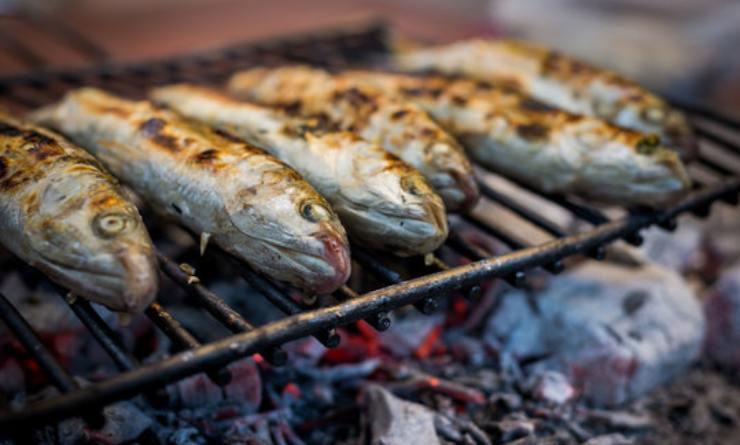 Pesce e crostacei alla griglia