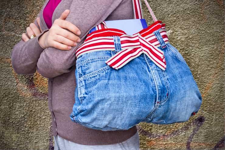 jeans vecchi riciclarli