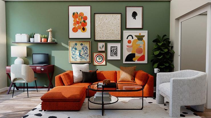 Soggiorno: colore pareti e mobili