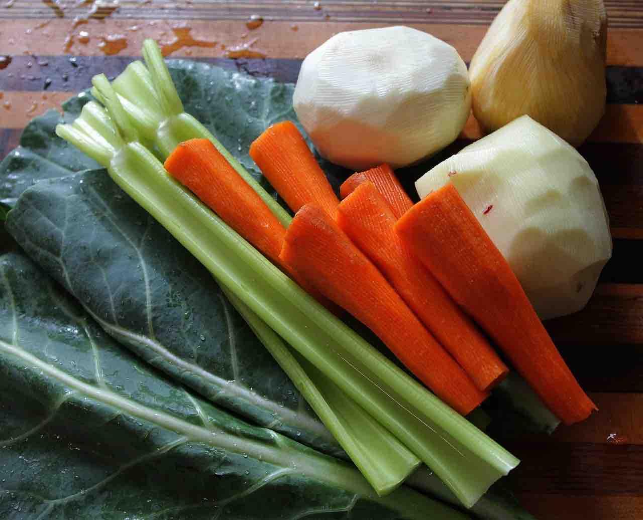 Dado vegetale fatto in casa: verdure