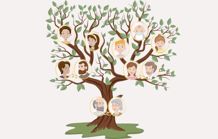 gioco albero genealogico