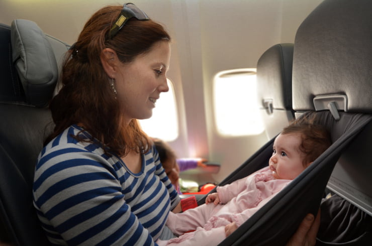 viaggiare aereo bambini